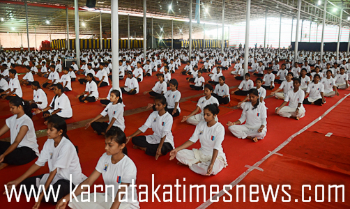 Yoga day in Moodabidir7
