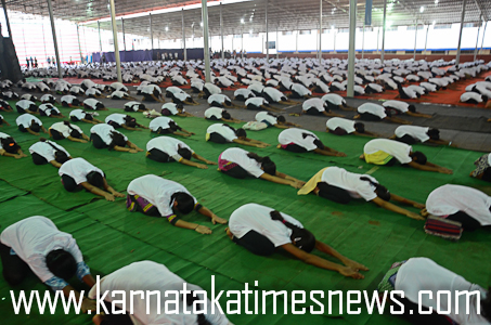 Yoga day in Moodabidir8